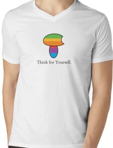 Think for Yourself. Mens V-Neck T-Shirt