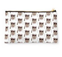 English Bulldog - sunglass pup - cool bully dog Studio Pouch