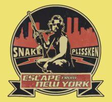 Snake Plissken (Escape from New York) Badge Vintage One Piece - Short Sleeve
