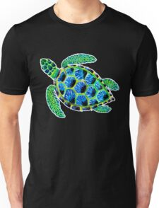 Psychedelic sea turtle in acrylic Unisex T-Shirt