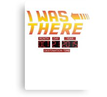 Back to the Future Day - I Was there Metal Print
