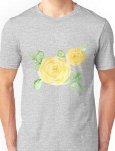 Watercolor yellow roses Unisex T-Shirt