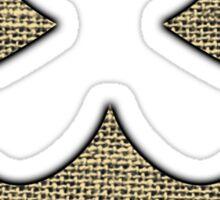 Scarecrow Logo (Burlap) Sticker
