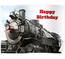 Happy Birthday: Grand Canyon Railway Locomotive Poster