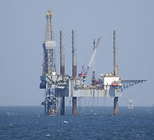 Jack Up Rig Offshore by Bradford Martin