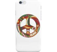 Vintage Psychedelic Peace Symbol iPhone Case/Skin