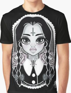 Wednesday with Roses Graphic T-Shirt