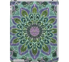 Hand Drawn Pink Purple Mandala  on Dark iPad Case/Skin
