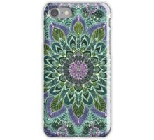 Hand Drawn Pink Purple Mandala  on Dark iPhone Case/Skin