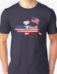 Snoopy Celebrate Independence Day Unisex T-Shirt