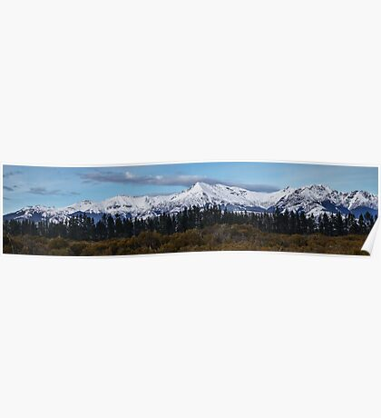 New Zealand Mountains Poster