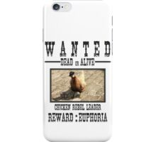 Wanted Chicken Leader iPhone Case/Skin