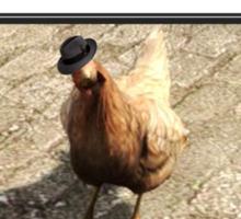 Wanted Chicken Leader Sticker