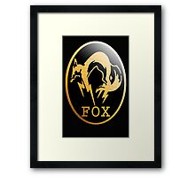 Foxhound Metal Gear Logo Framed Print