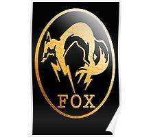 Foxhound Metal Gear Logo Poster
