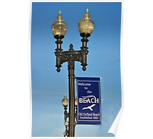 Street lights at Old Orchard Beach Poster