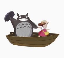 totoro in boat One Piece - Short Sleeve