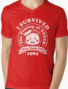 GhostBusters - I Survived The Coming Of Gozer Mens V-Neck T-Shirt