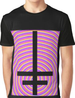 Inverted Psychedelic Cross Graphic T-Shirt