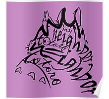 neighbor totoro skect abstract Poster