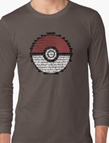 Pokeball Song typography Long Sleeve T-Shirt