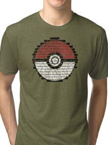 Pokeball Song typography Tri-blend T-Shirt