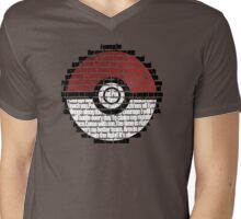 Pokeball Song typography Mens V-Neck T-Shirt