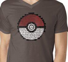 Pokeball Song typography Mens V-Neck T-Shirt