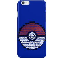Pokeball Song typography iPhone Case/Skin