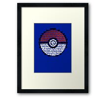 Pokeball Song typography Framed Print