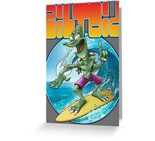 Surfing Ziltoid Greeting Card