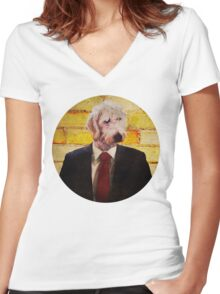 Ruff Women's Fitted V-Neck T-Shirt