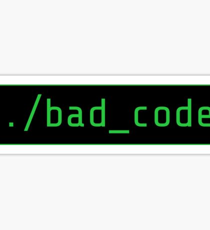bad code executing - Root, Person of Interest Sticker