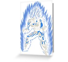 Songoku blue Greeting Card