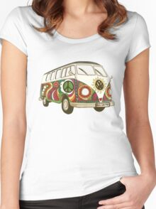Vintage Psychedelic Kombi Women's Fitted Scoop T-Shirt