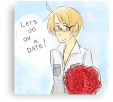 Let's Go On a Date! - APH America Canvas Print