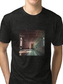 Waiting for a Train Tri-blend T-Shirt