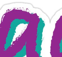 Rad (Purple and Green) Sticker