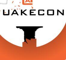 Quake@QuakeCon (w text) Sticker
