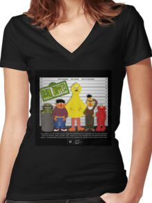 The Usual Muppets Women's Fitted V-Neck T-Shirt