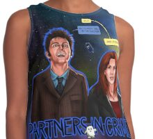 Partners In Crime Doctor Who Tenth Doctor Donna Noble David Tennant Catherine Tate #DTfan4life  Contrast Tank