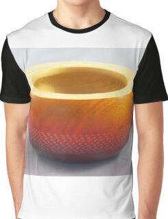 Small coloured and textured wooden bowl, Perth, WA Graphic T-Shirt