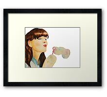Bubbled Worries  Framed Print