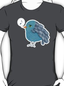 Slightly Depressed Blue Bird Singin' the Blues T-Shirt