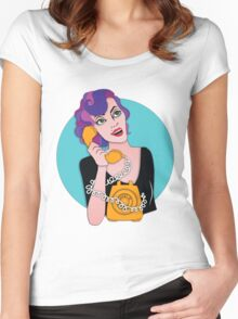 Hello... Women's Fitted Scoop T-Shirt