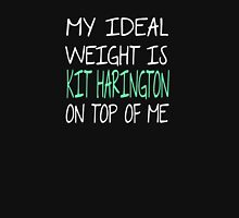 My Ideal Weight Is Kit Harington On Top Of Me Women's Fitted Scoop T-Shirt