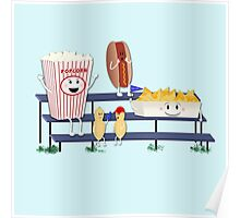 Snack Time at the Old Ball Game  Poster