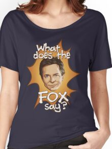 What Does The Michael J Fox Say? Women's Relaxed Fit T-Shirt