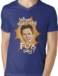 What Does The Michael J Fox Say? Mens V-Neck T-Shirt
