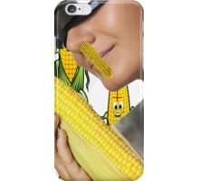 Corn Girl wearing a visor iPhone & Samsung case iPhone Case/Skin